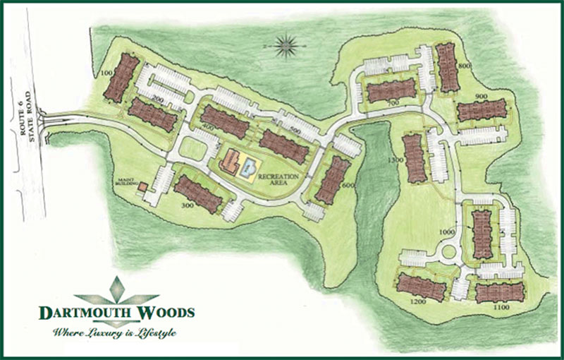 Property Map » Dartmouth Woods » Dartmouth MA Luxury Apartments on